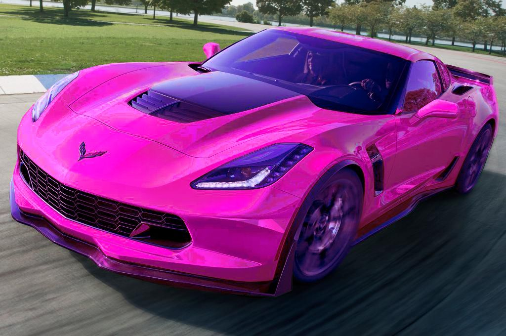 A beautiful hot pink Corvette Stingray!!! #HotPink.