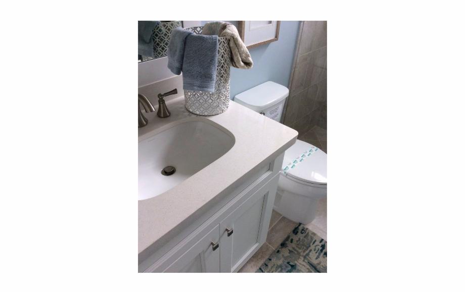 Snow White Bathroom Sink.