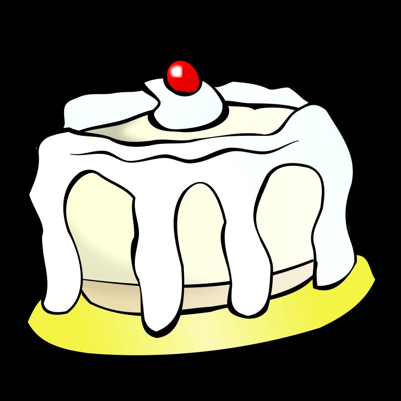 Free Clipart: White cake.