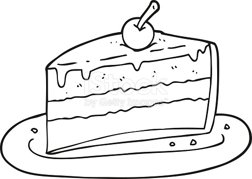 Black And White Clipart Cake.