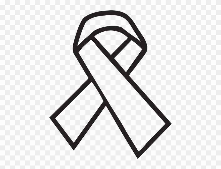 Cancer Ribbon Outline.