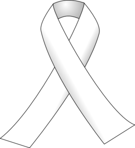 White Ribbon 3 Clip Art at Clker.com.