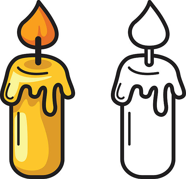 Candle clipart black and white 5 » Clipart Station.