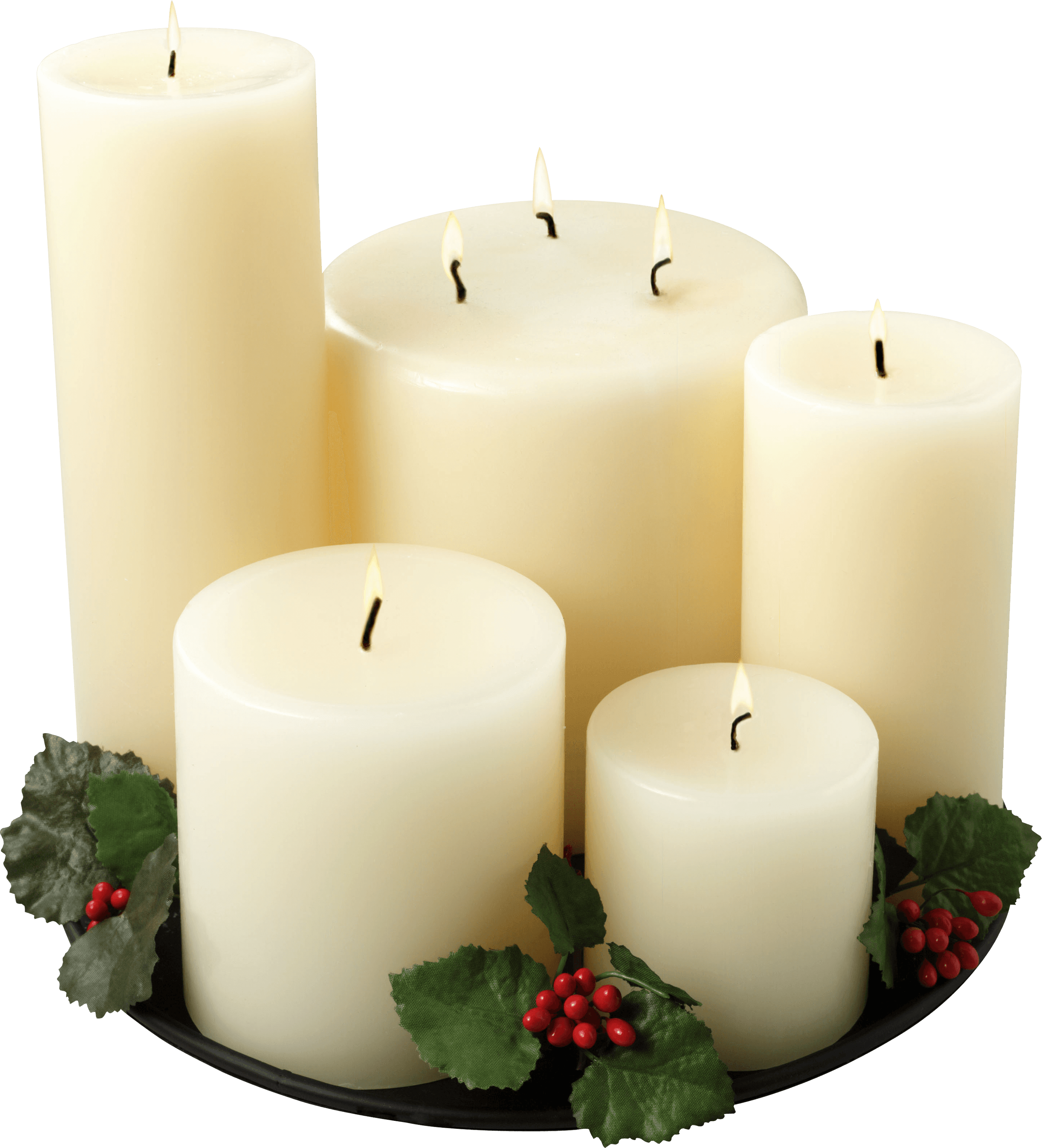 Group Of White Candles transparent PNG.