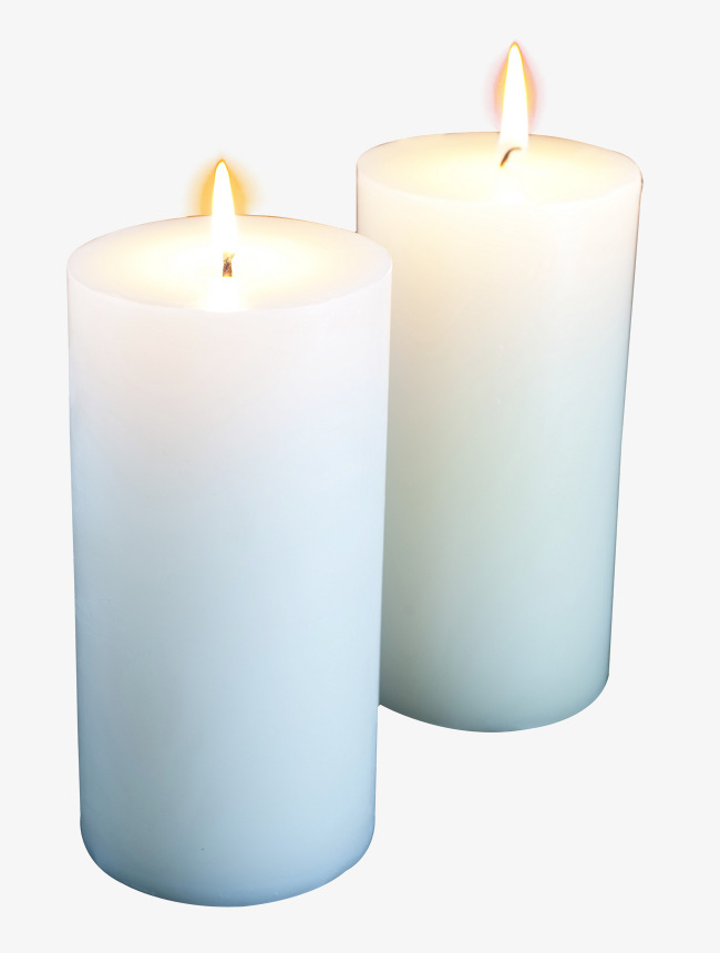 White Candle, Burning Candles, Light A C #107404.