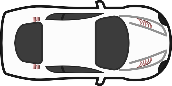Car Clipart Top View Black And White.