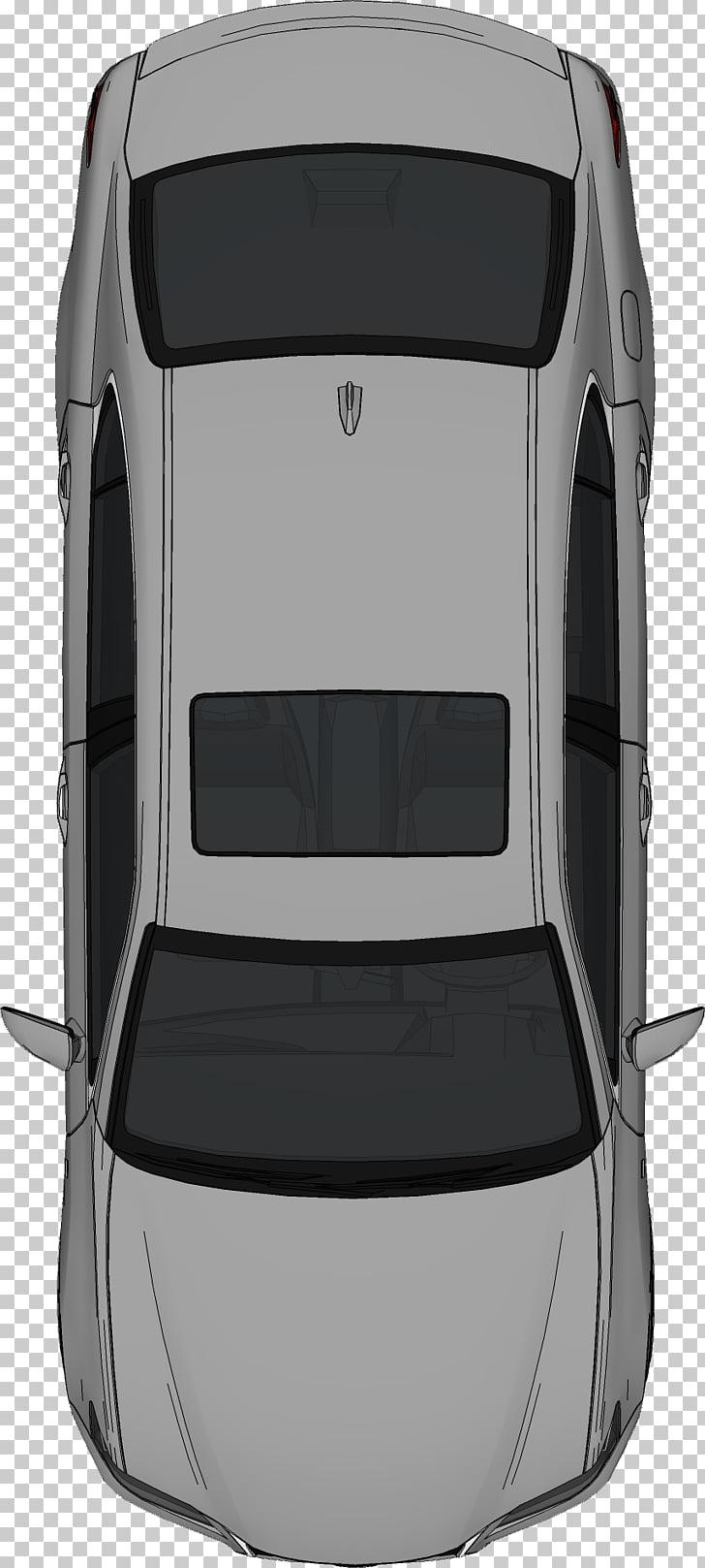 Car , bed top view, grey sedan PNG clipart.