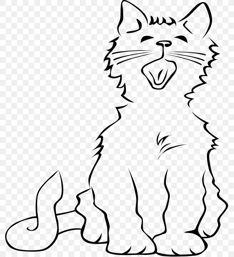 Cat Kitten Meow Clip Art, PNG, 783x900px, Cat, Area, Black.