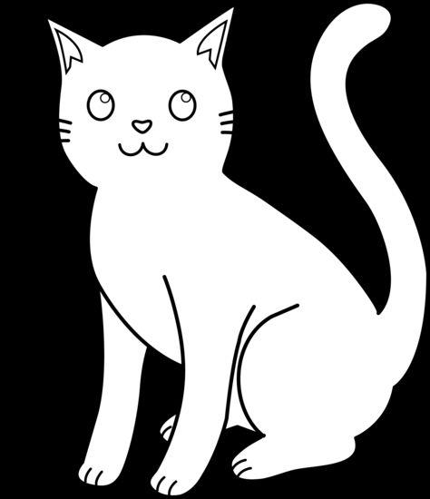 White Cat Clip Art.