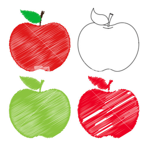 Chalkboard Apple Clipart.