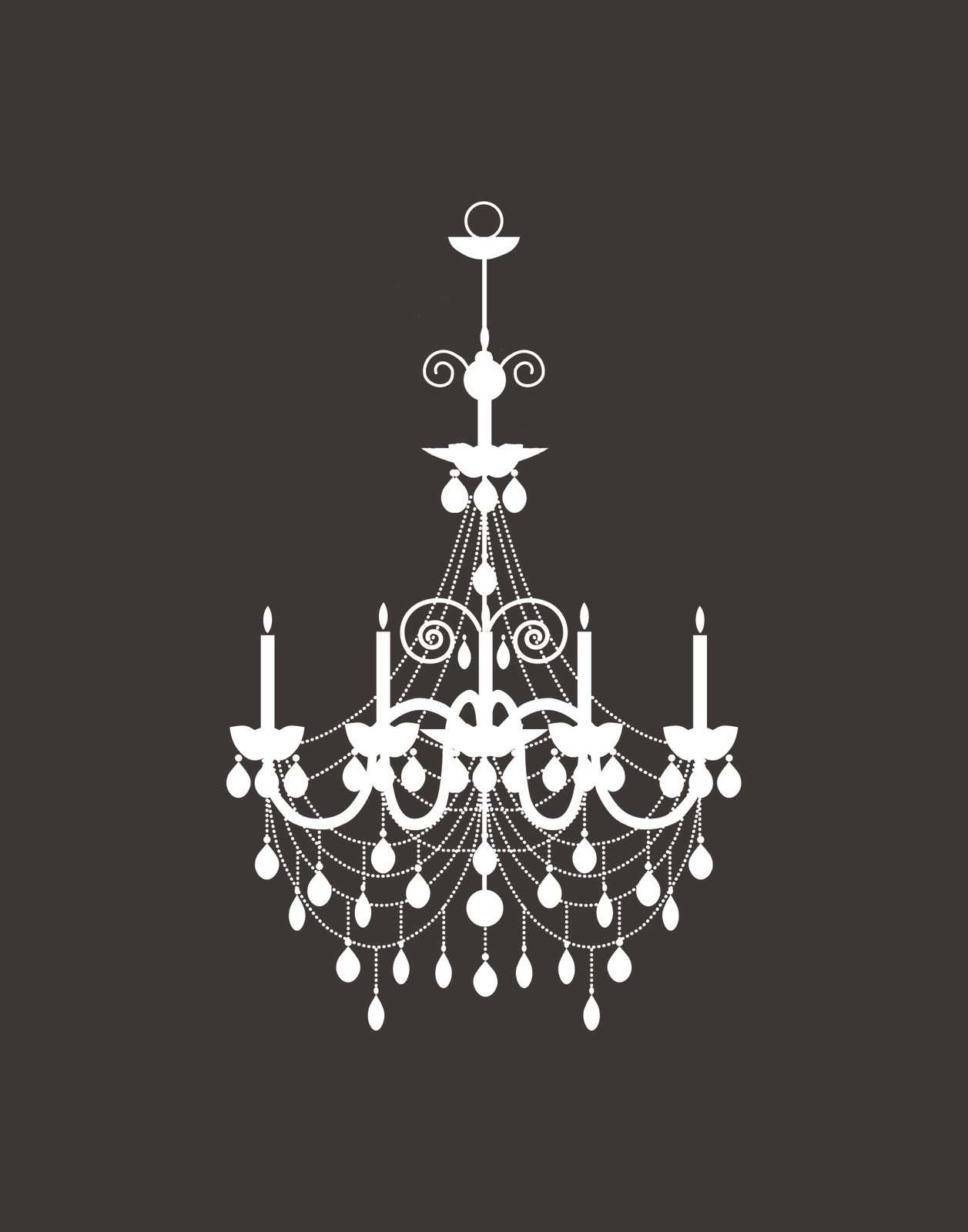White chandelier clip art clipground - Images of chandeliers ...