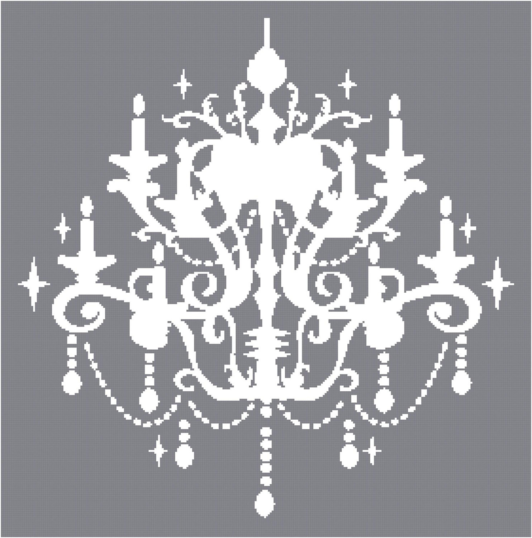 White Chandelier Clip Art.