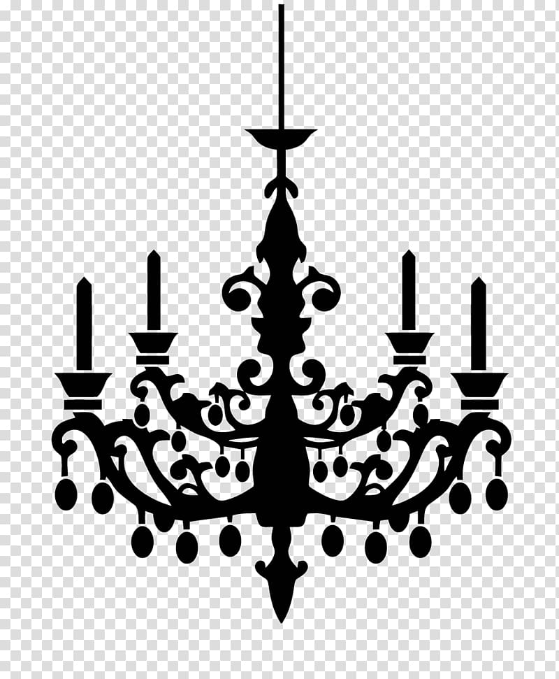Chandelier Silhouette , Silhouette transparent background.