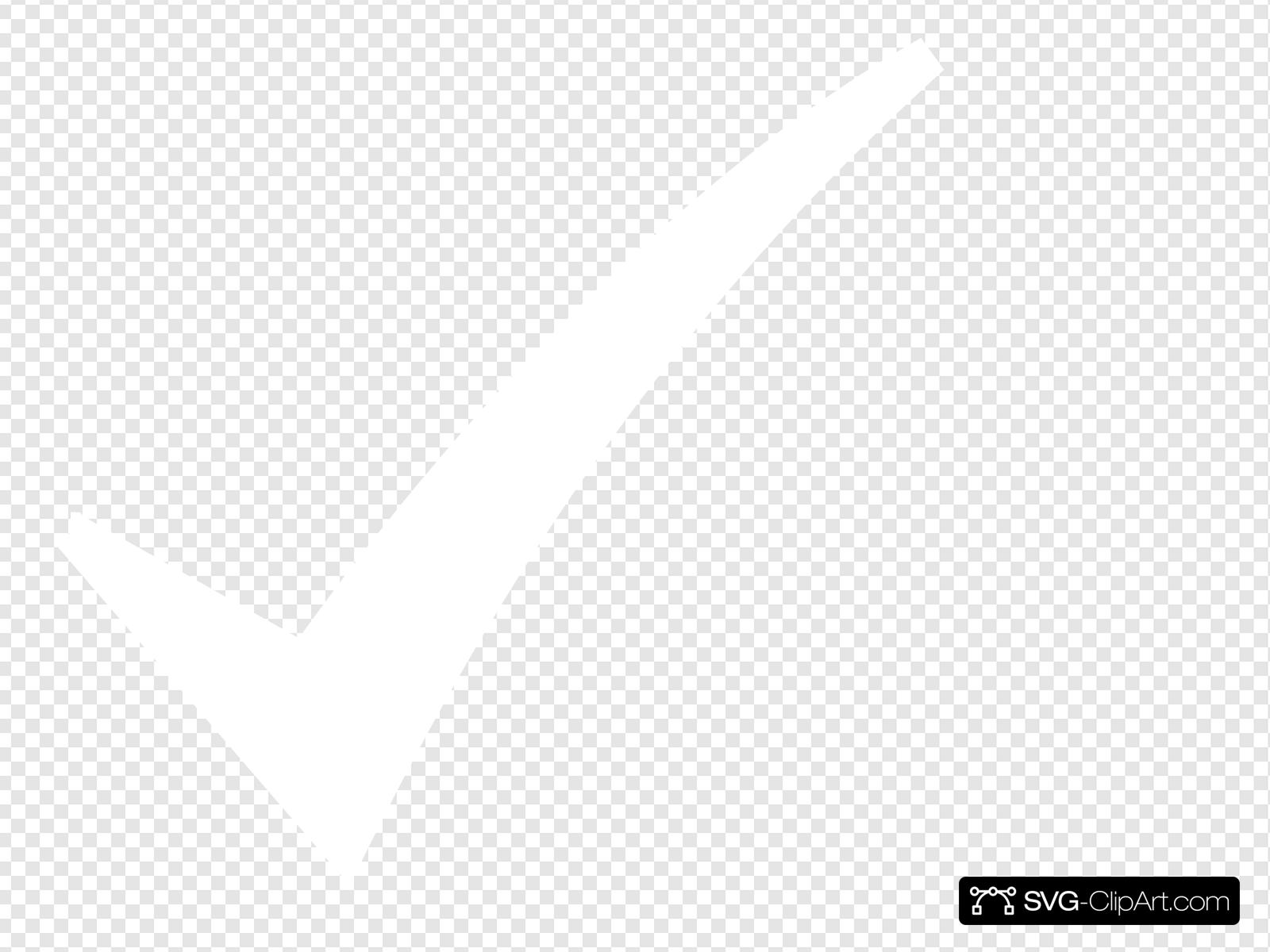 White Check Mark Clip art, Icon and SVG.