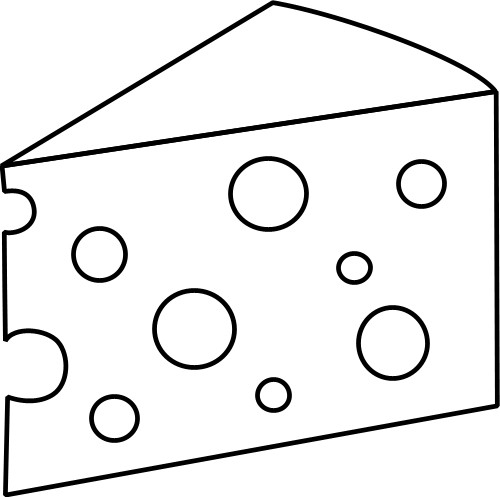 Cheese Clipart Black And White.