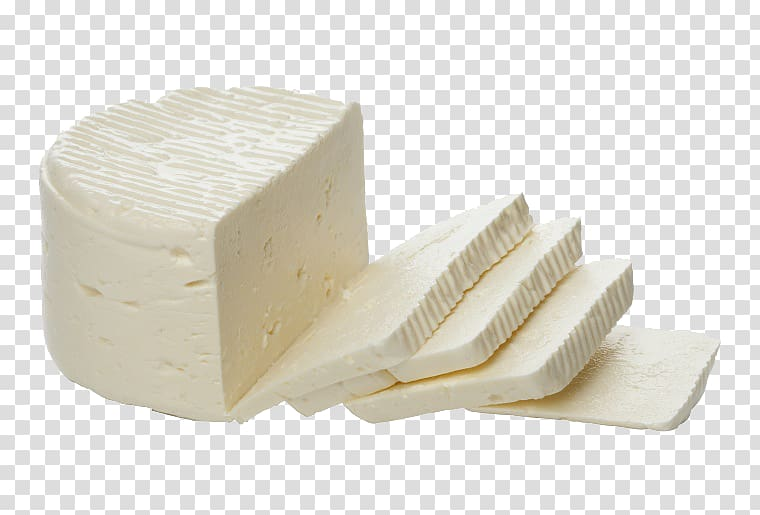 White cheese and slices, Milk Breakfast Cheese, Chopped.