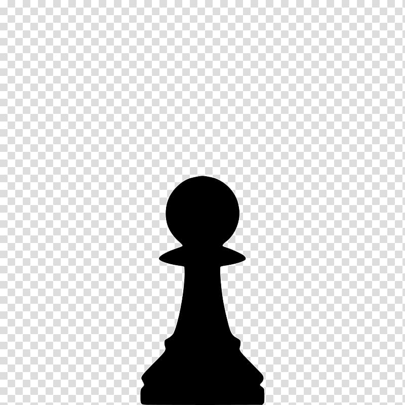 Chess piece Pawn Queen Rook, silhouettes transparent.