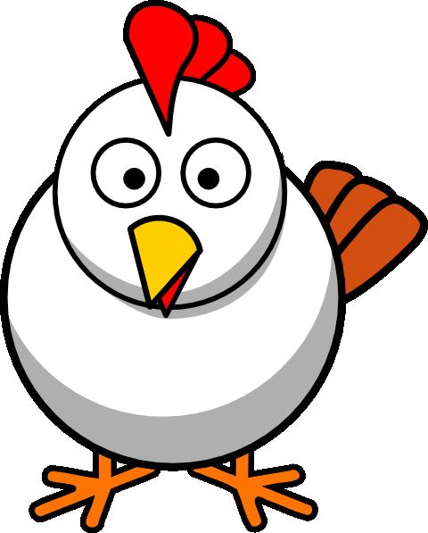 White Chicken Clip Art at Clker.com.