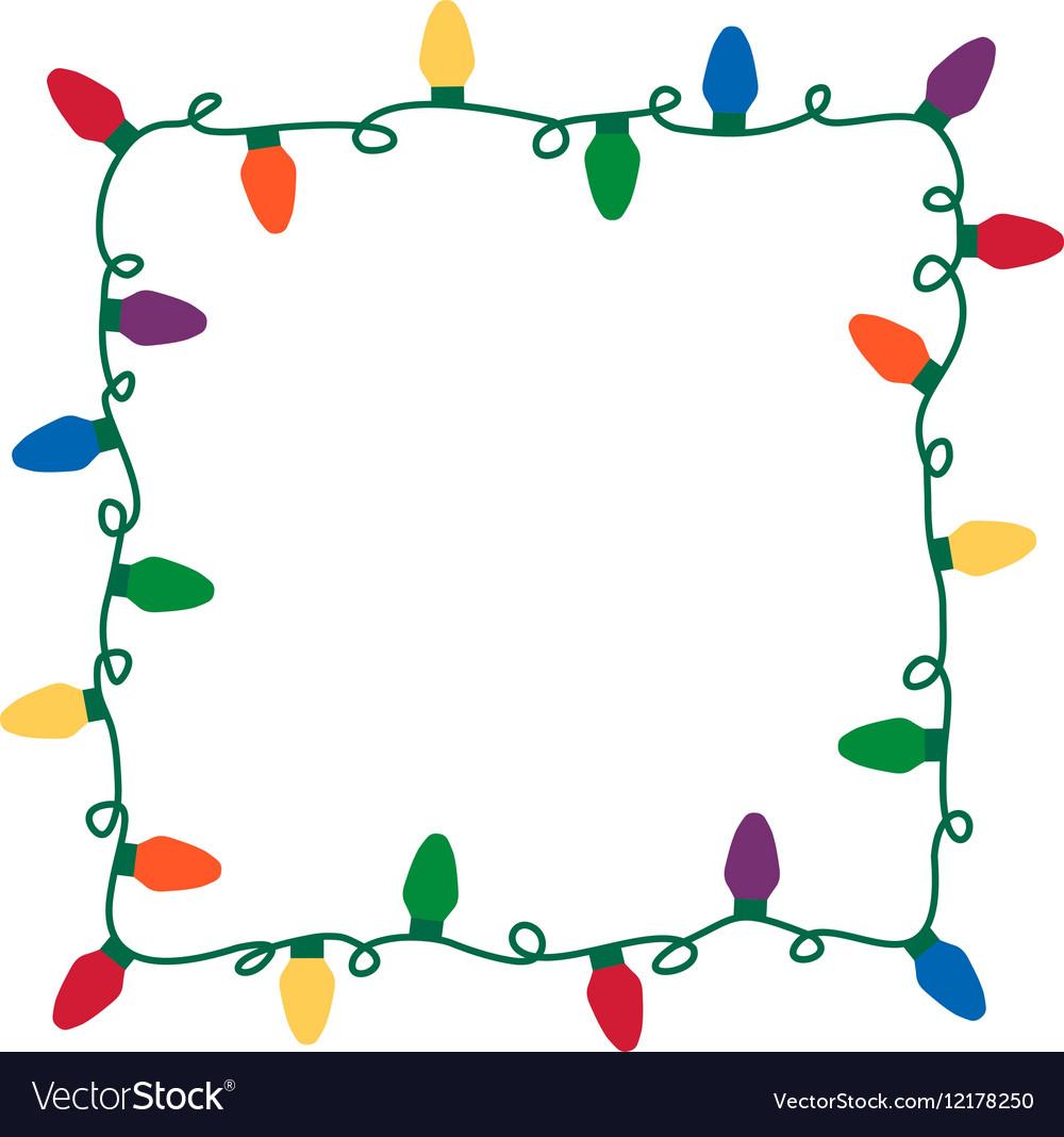 Christmas lights border.