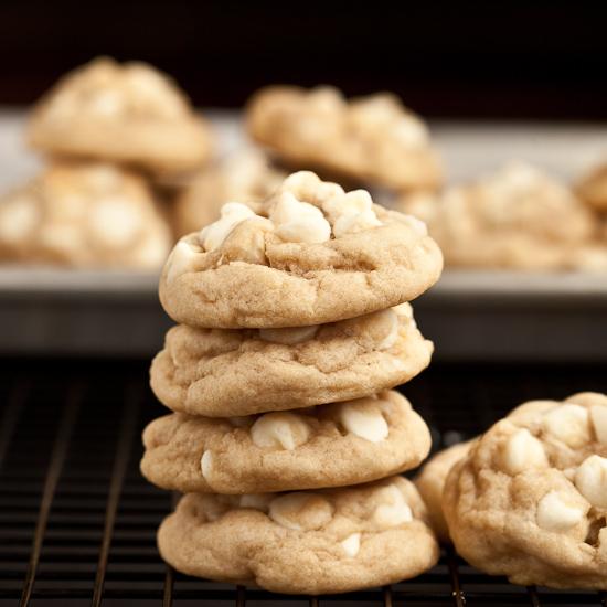 White Chocolate Chip Macadamia Nut Cookies.
