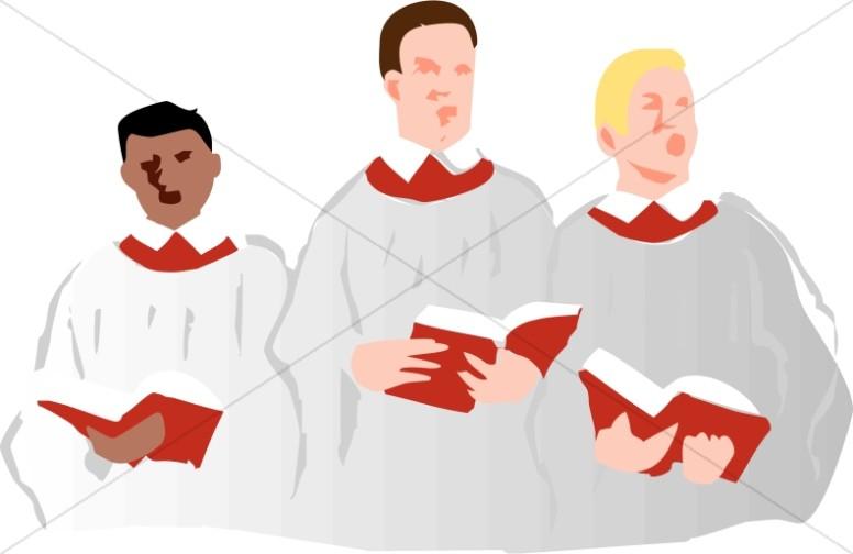 Choir Singers in Robes.