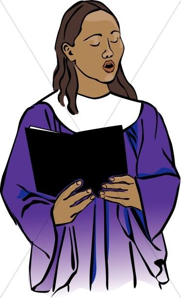 Choir Singer in Purple Robe.