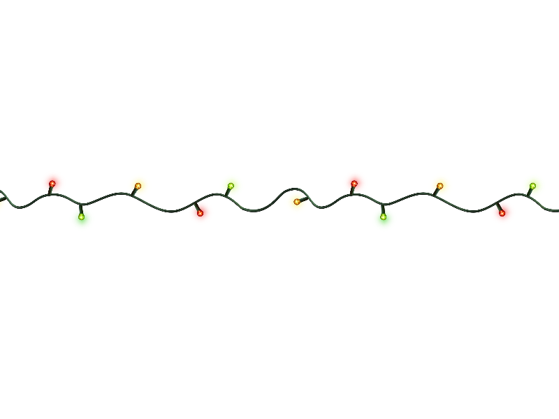 Christmas Lights Png (Isolated.