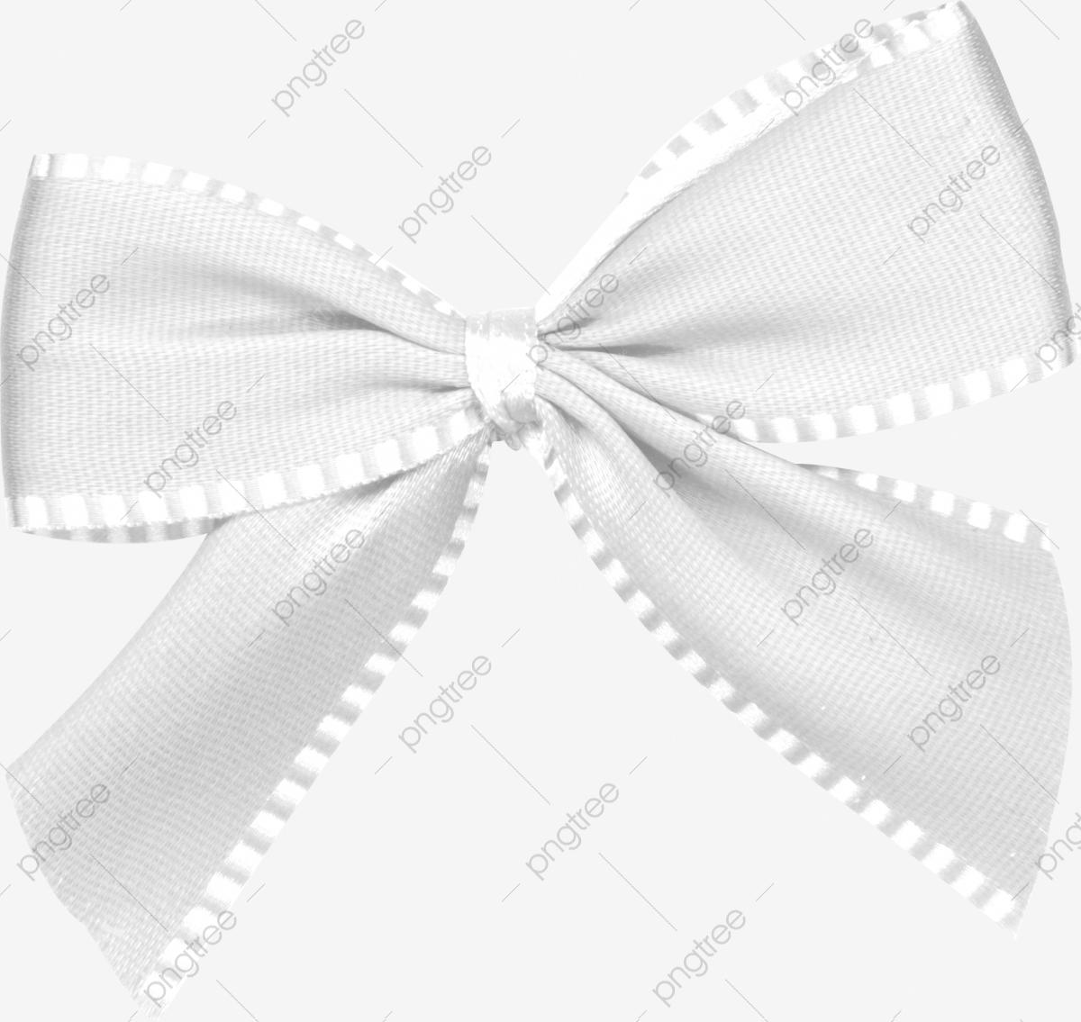 Christmas Ribbon Material White Bow, Ribbon Clipart, Bow Clipart.