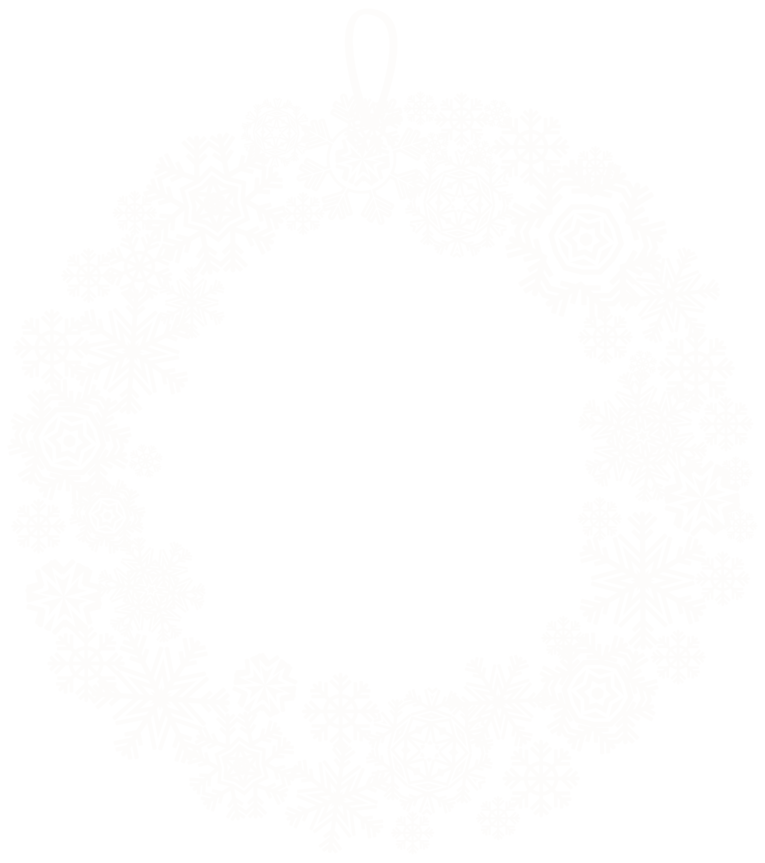 White Christmas Wreath PNG.