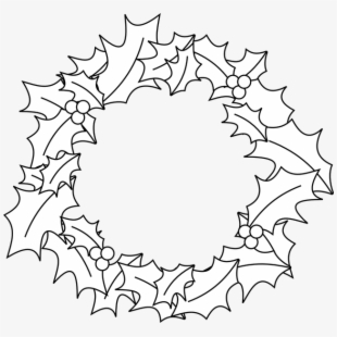 PNG Christmas Wreath Black And White Cliparts & Cartoons.