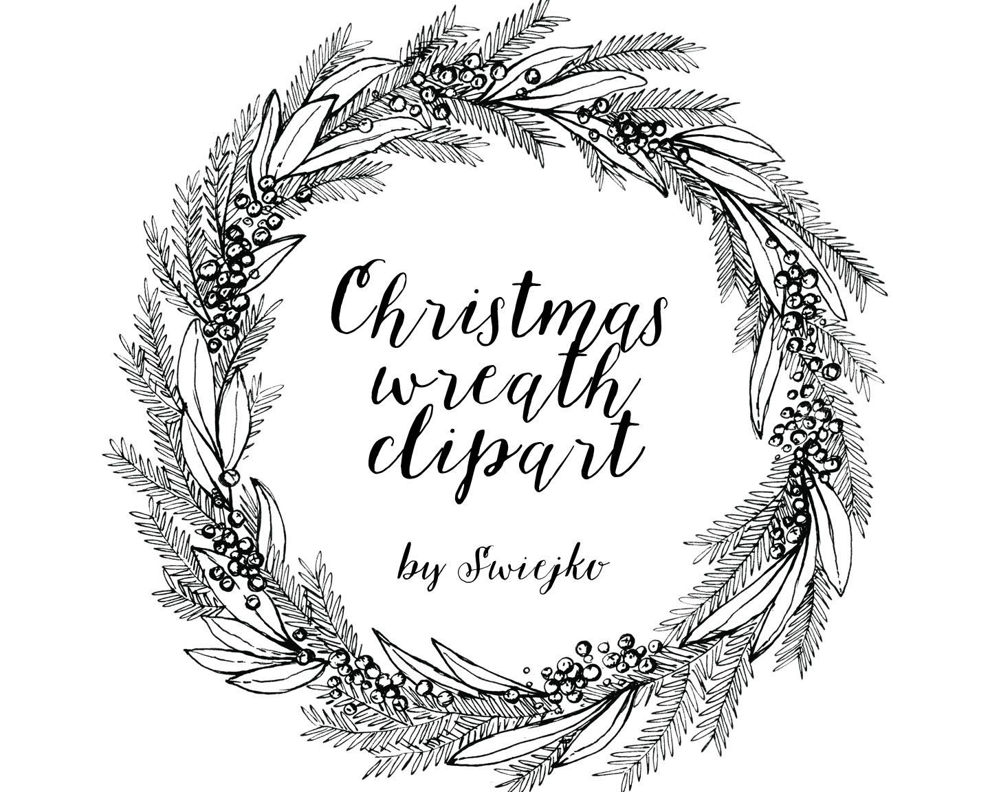 Image result for hand drawn christmas wreath clipart.