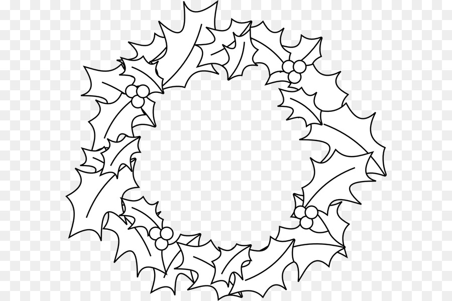 Christmas Tree Line Drawing png download.