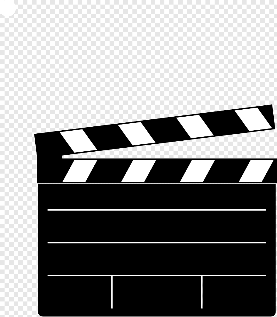 Black and white clipboard illustration, Clapperboard Film.