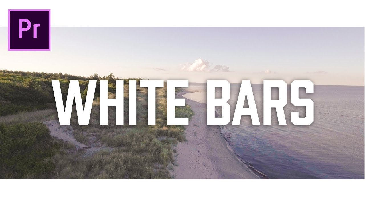 How to add cinematic White bars to videos in premiere pro cc.