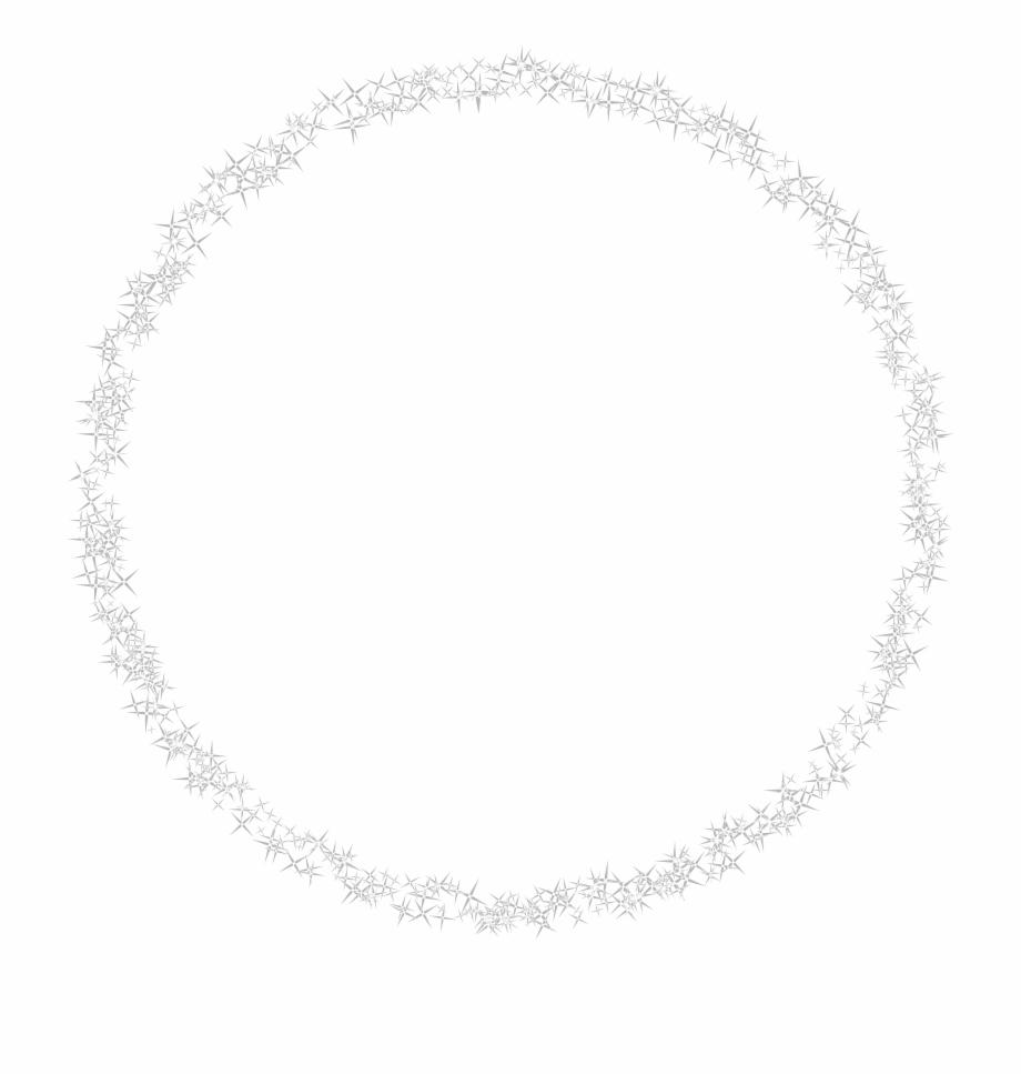 Shining Round Border Transparent White Circle Frame Free PNG Images.