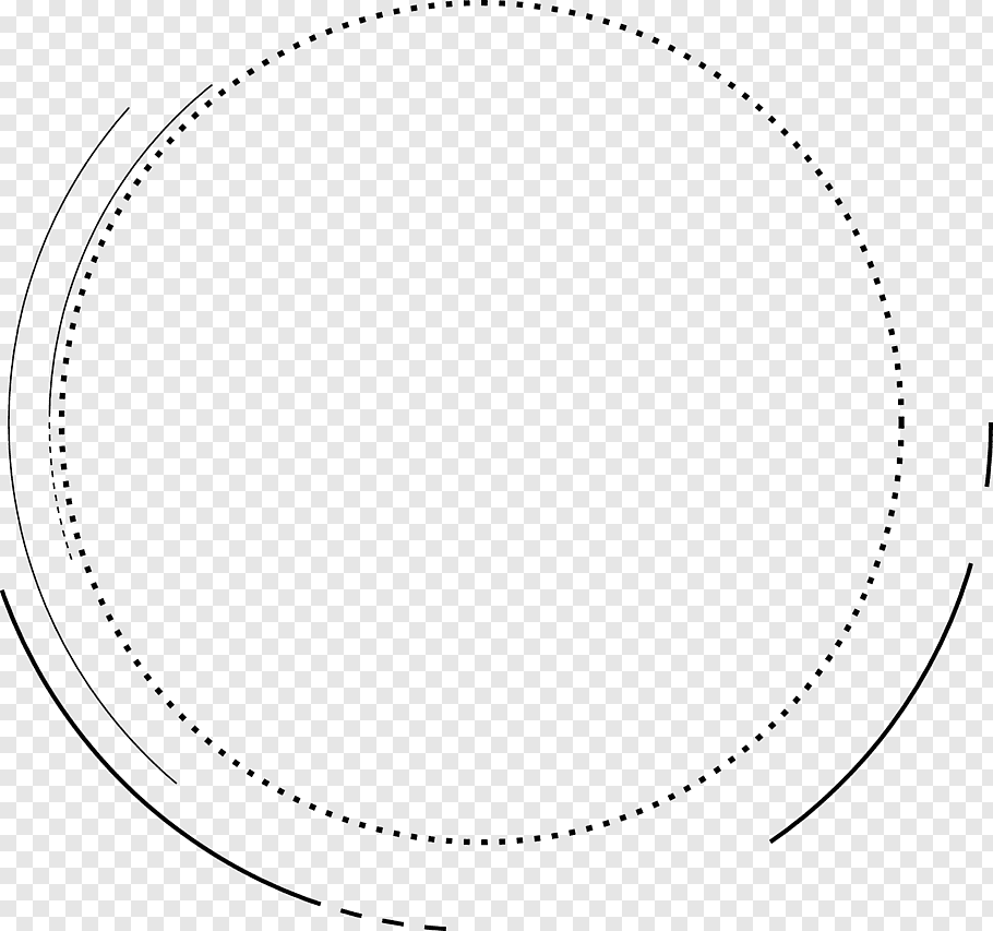 Round black border, White Circle Area Pattern, Creative.