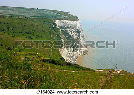 Stock Photo of The White Cliffs of Dover k7164024.