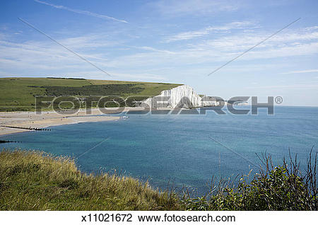 Stock Photo of White cliffs, English channel x11021672.