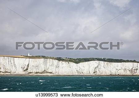 Stock Photo of White cliffs of Dover u13999573.