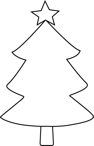 White Christmas Tree Clipart.