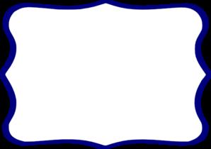 Navy Frame White Center Clip Art at Clker.com.
