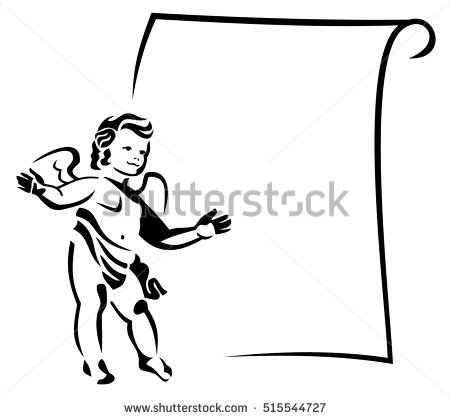 Outline Frame Cupids Stock Vector 237427102.