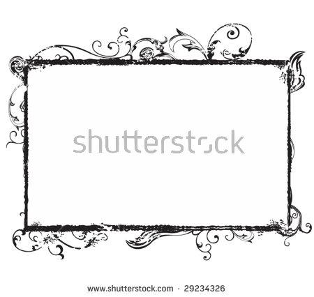 Vertical Outline Frame Shells Vector Clip Stock Vector 468240143.