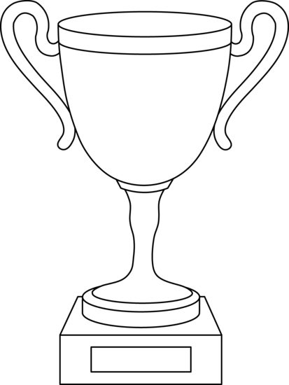 trophy coloring pages.