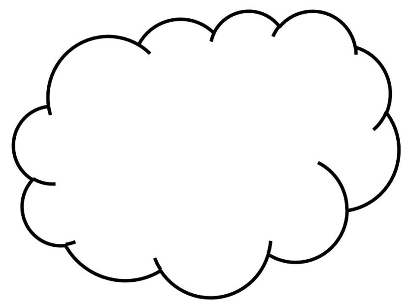 White cloud clipart - Clipground