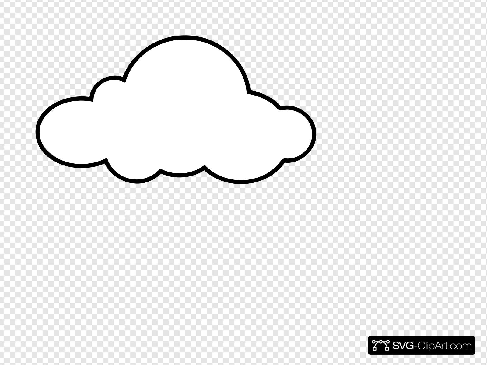 White Cloud Clip art, Icon and SVG.
