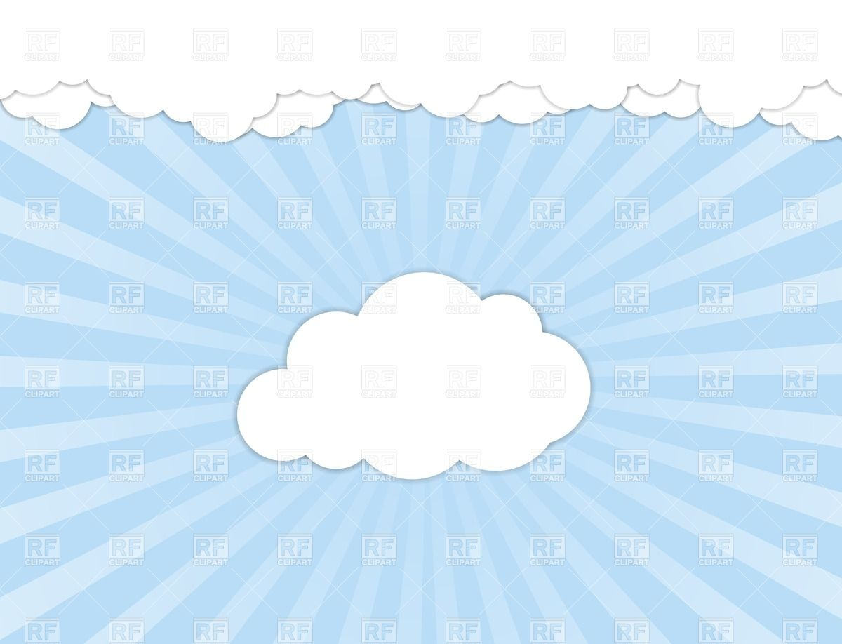 White clouds over blue sky Vector Image #26901.