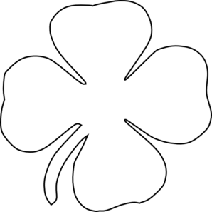 Clover Black And White Clipart.