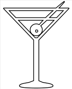 Martini glass the gallery for glass clipart black and white.