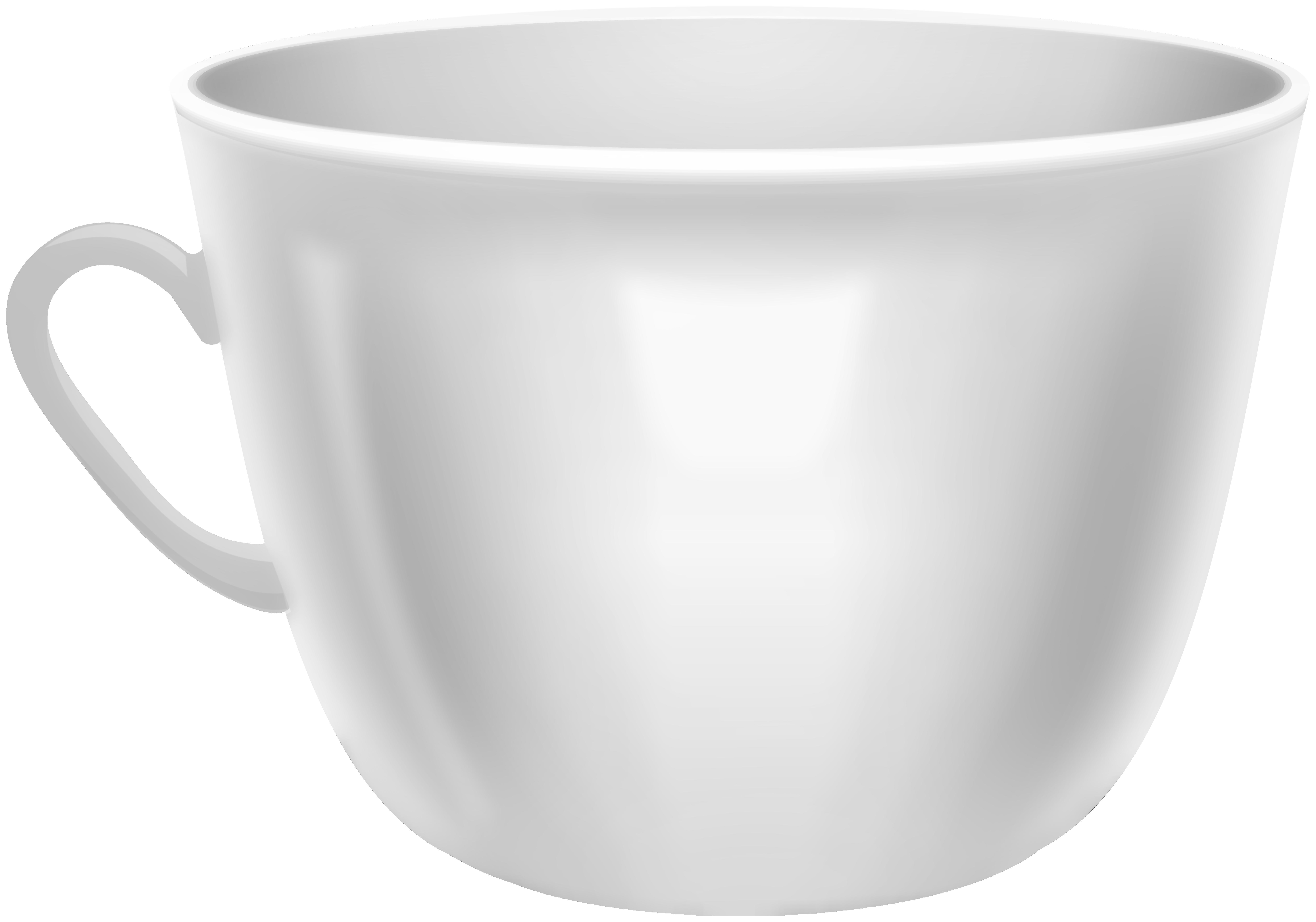 White Coffee Mug PNG Clip Art.
